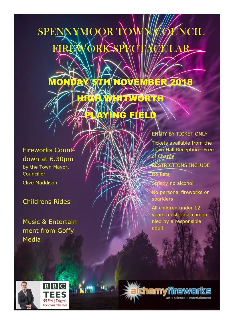 Fireworks 2018 Spennymoor Town Council